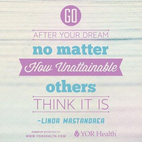 YOR Health - Dreams   via Facebook
