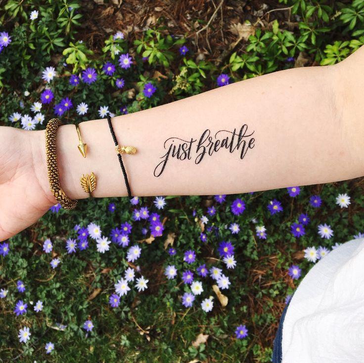 """Just Breathe"" Temporary Tattoo"