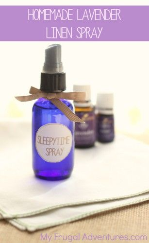 Super simple homemade lavender linen spray.  This is a perfect sleepytime spray for adults or children to help get a better night's sleep!