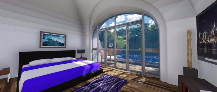 A rendering of a Green Magic Home bedroom