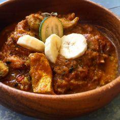 Spicy Fish, Feijoa & Banana Curry
