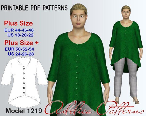 Plus size Cardigan Sewing Pattern PDF, Women's sizes 18-28 , Plus size Cardigan PDF Instant Download Sewing Pattern, Cardigan Sewing Pattern 1