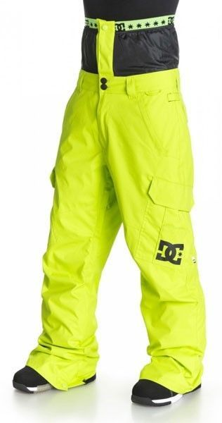 "DC "" DONAN"" SNOWBOARD PANTS BRIGHT YELLOW/GREEN-NEW WITH TAGS LAST ONE🏂🏂🏂🏂❄ #DCShoes"