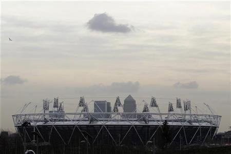 A general view of the London 2012 Olympic Games Olympic Stadium is seen at the Olympic Park in London