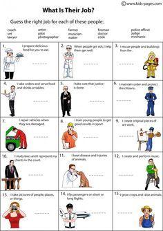 Job Description worksheets