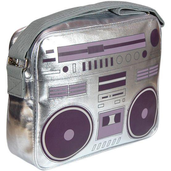 Sac à bandoulière poste radio 80 ghettoblaster