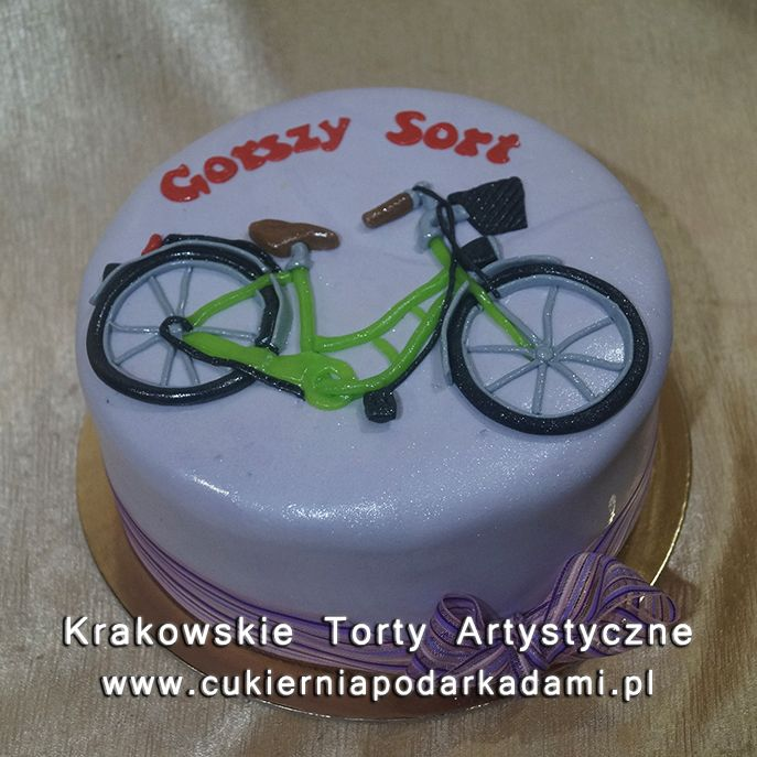 118. Tort z rowerem. Cake with bike.
