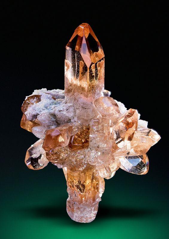 A very impressive Topaz cluster from Maynard's Claim, Thomas Range, Juab Co., Utah