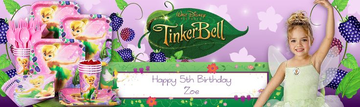 Tinkerbell party supplies, decorations and invitations. Very low Prices!