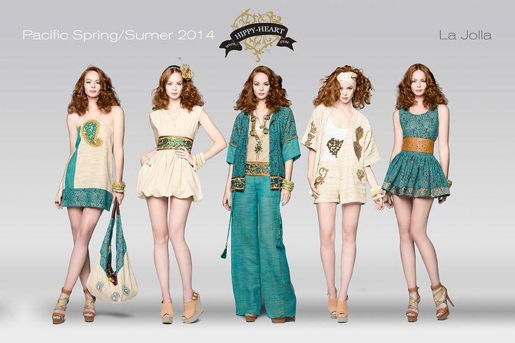 La jolla is Organic, friendly colors, Yute, Cotton, Pure Silk, Hippy Heart