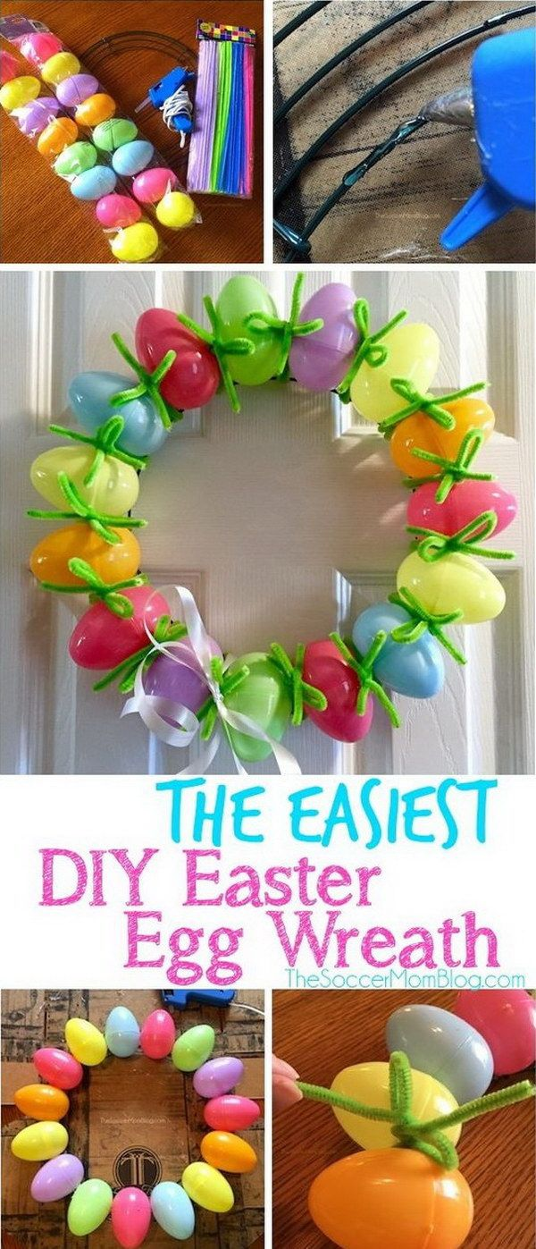 Easy spring crafts for seniors - 41 Beautiful Spring And Easter Wreath Ideas With Lots Of Tutorials