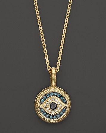 Judith Ripka 18K Gold Evil Eye Pendant                                                                                                                                                                                 More