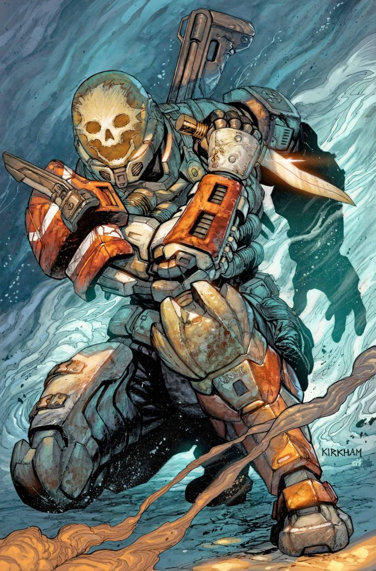 HALO Reach - Emile by Tyler Kirkham, colours by Arif Prianto