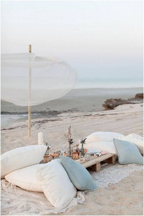 romantic beach picnic just for the two of us