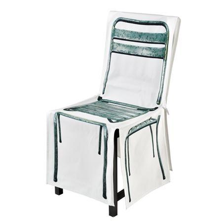 DayCollection - Housse de chaise adaptable M, métal [4meK]