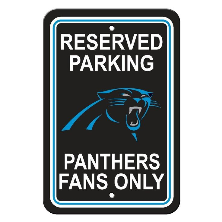 Carolina Panthers Parking Sign 12X18