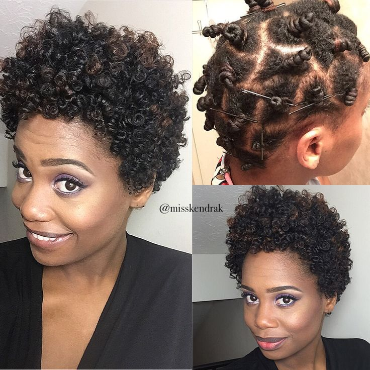 Bantu knot out on Natural hair #misskenk #misskendrak