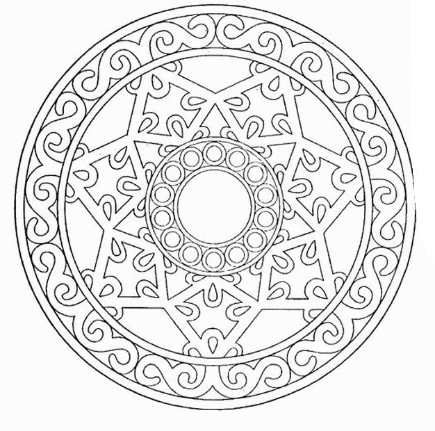 circle abstract coloring pages - photo#27