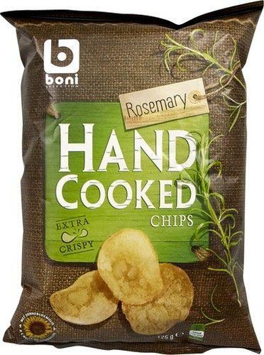 BONI SELECTION chips au romarin 125gr Boni Sélection offre des chips de pommes de terre goût romarin. Les chips Boni Sélection sont cuit à la main et dans de l'huile de tournesol #Alimentation générale