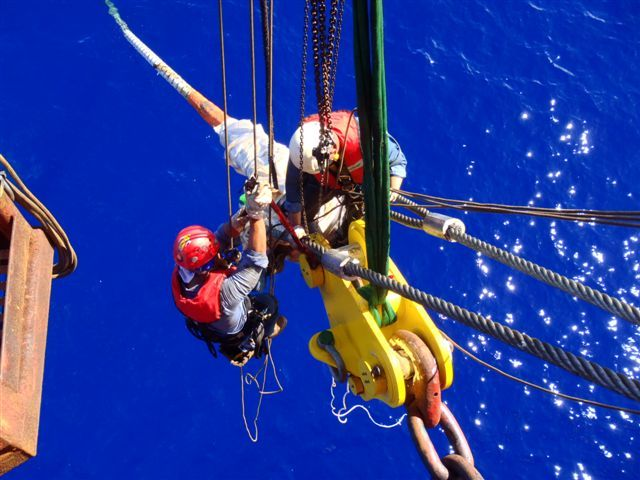 NOV-SSI Rope Access technicians working offshore