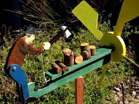 Make A Simple Wood Whirligig Art Wind Sculpture