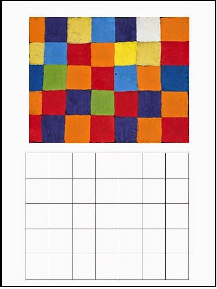 Cuadros de Paul Klee para colorear            Landhaus Thomas R.            Senecio                  Kleiner Narr in Trance         ...