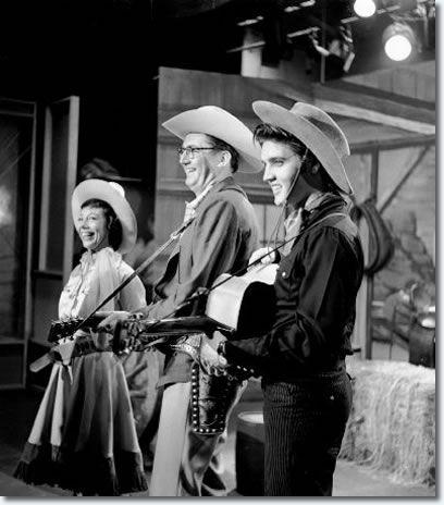 JULY 1 1956 Elvis performs on the Steve Allen Show.