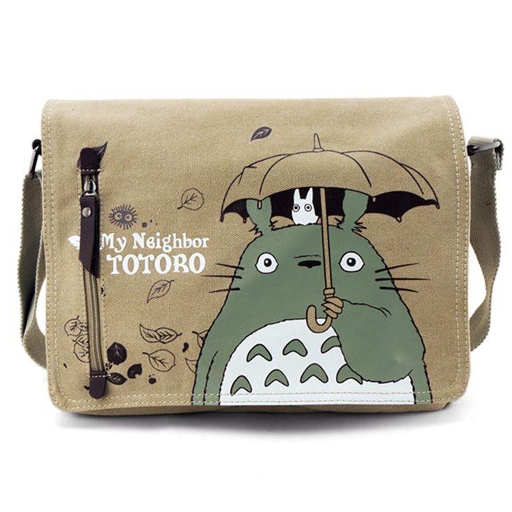 Fashion Totoro Bag Men Messenger Bags Canvas Shoulder Bag Lovely Cartoon Anime Neighbor Crossbody School Letter Bag - free shipping worldwide