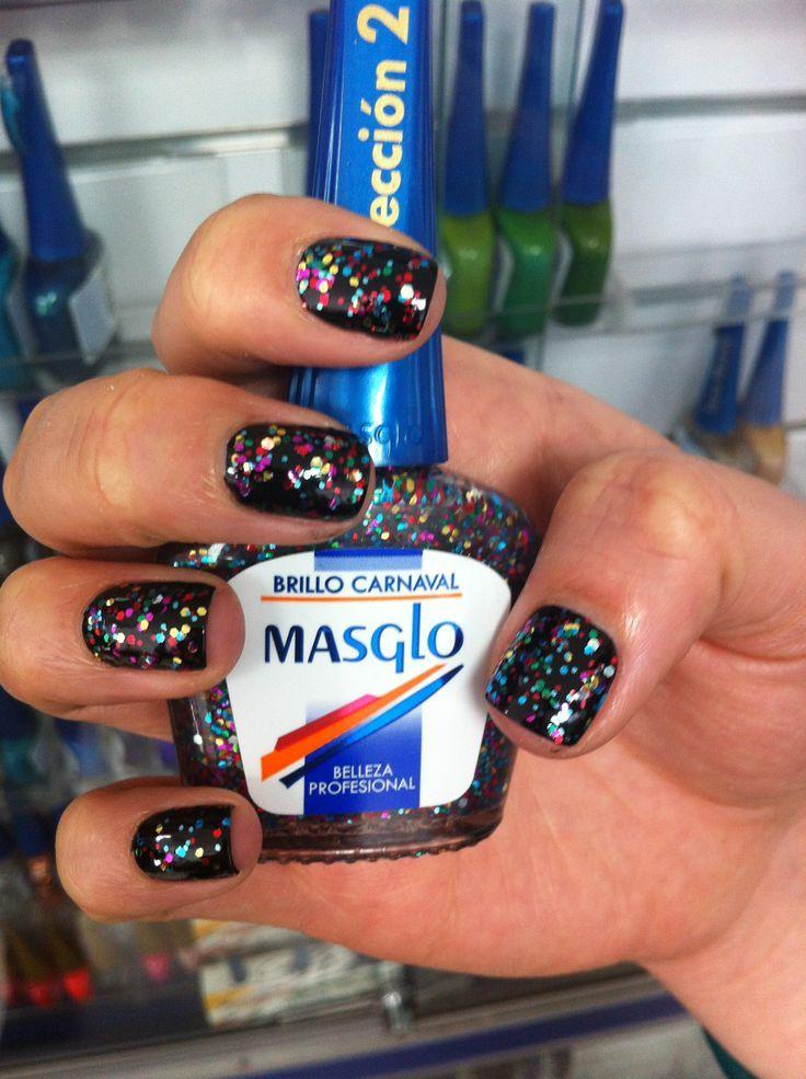 Decora tus uñas con el brillo carnaval de #masglo! http://www.nailartshop.co/shop/bases-brillos/brillo-carnaval/