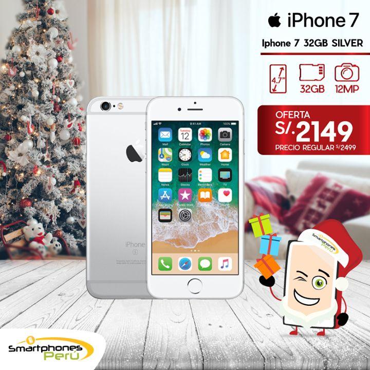 🎊🎄 Solo por esta navidad 🎄🎊 iPhone 7 32GB + 1 Mica de vidrio de regalo. Stock disponible en nuestras tiendas #SmartphonesPerú. Equipos nuevos y originales. 🌟 Garantía   ☎ 01 3292967   📞 980034076 o Whatsapp   🚛 Delivery a todo el Perú #phone #smartphone #mobile#Bluetooth
