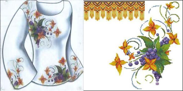 Сорочки - Вышиванки - схемы вышивки крестом скачать .xsd   8