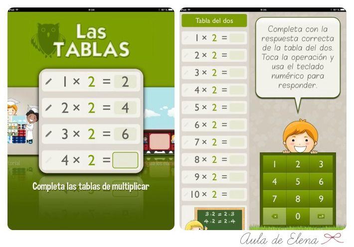 Aula de Elena: App para aprender las tablas de multiplicar
