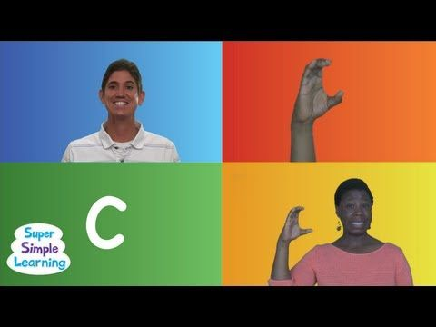The Alphabet Chant from Super Simple Songs-- Guy is singing the alphabet while the lady in the lower right is signing/lipping the alphabet #asl #signlanguage #alphabet