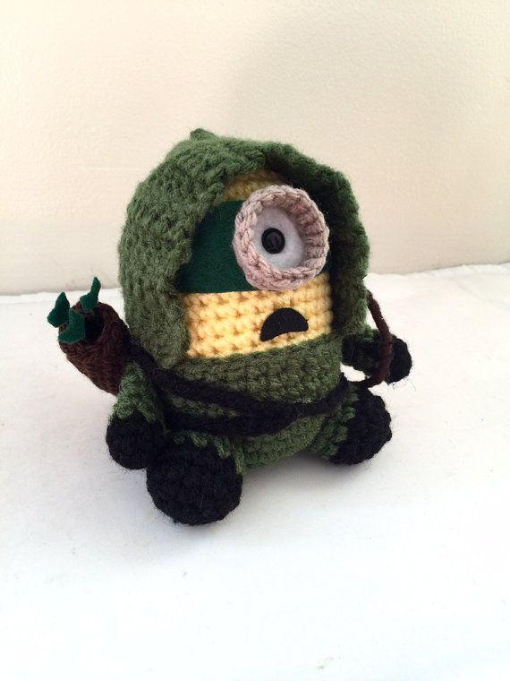 Amigurumi Geek Patterns : Green arrow minion pdf pattern crochet for amigurumi doll