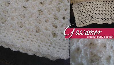 Lolly's Crafty Crochet: Free Pattern: Gossamer Crochet Baby Blanket