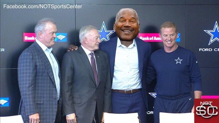 "BREAKING NEWS: The dallas cowboys have signed RB OJ Simpson. Jerry jones says "" He's exactly the kind of character we want in a Dallas Cowboy"""