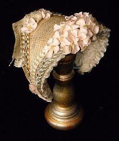 Straw French Fashion Hat - Finishing Touches #dollshopsunited
