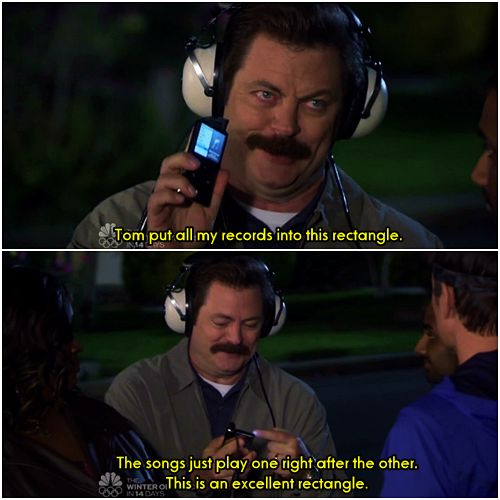 """This is an excellent rectangle"", Ron Swanson <3"