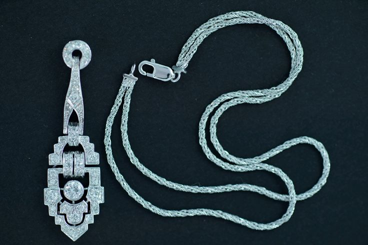 """AFTER   Diamond """"deco"""" pendant (with improved bail) and double bracelet (made from foxtail chain)"""