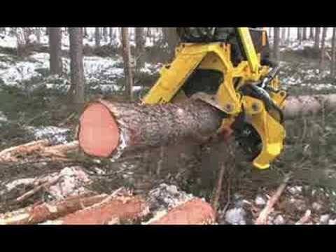 Máquina de Cortar Árvores da John Deere | Tretando Videos