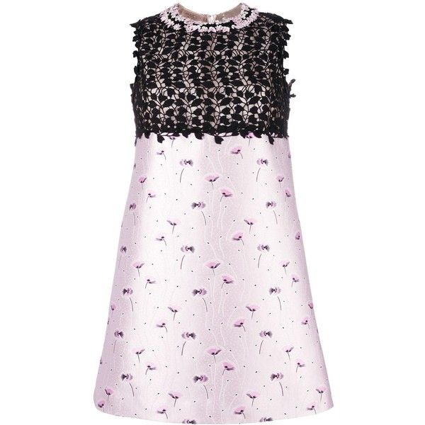Giambattista Valli floral print shift dress (6,975 ILS) ❤ liked on Polyvore featuring dresses, flower print dress, giambattista valli, flower printed dress, floral design dresses and floral dresses