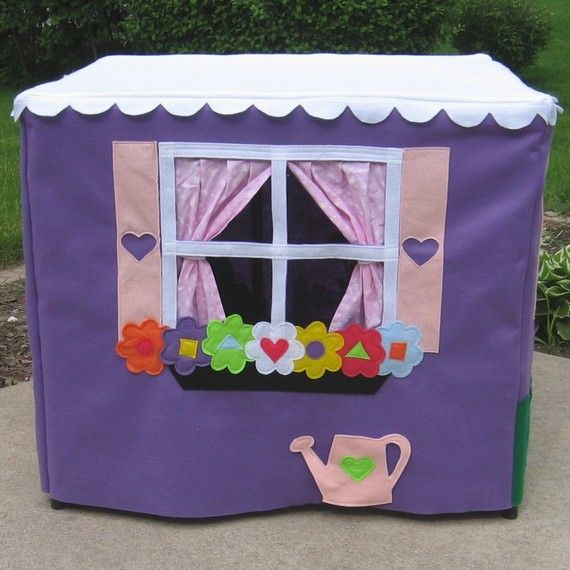 Card Table Playhouse, Toy, Handmade, Lavender Lane Cottage, Personalized, Custom Order