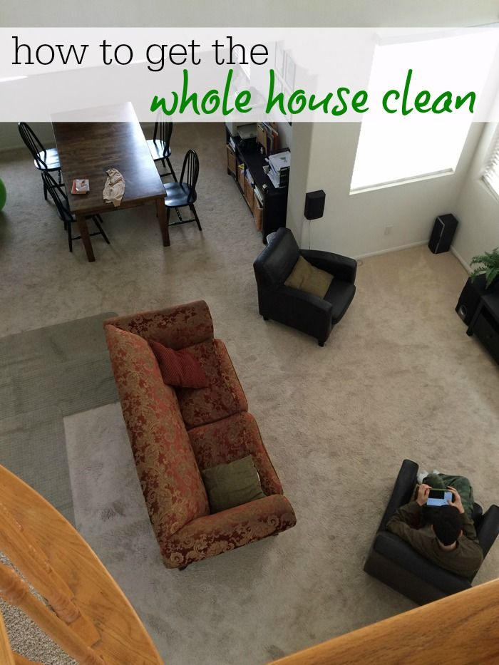 how to clean the whole house wikihow