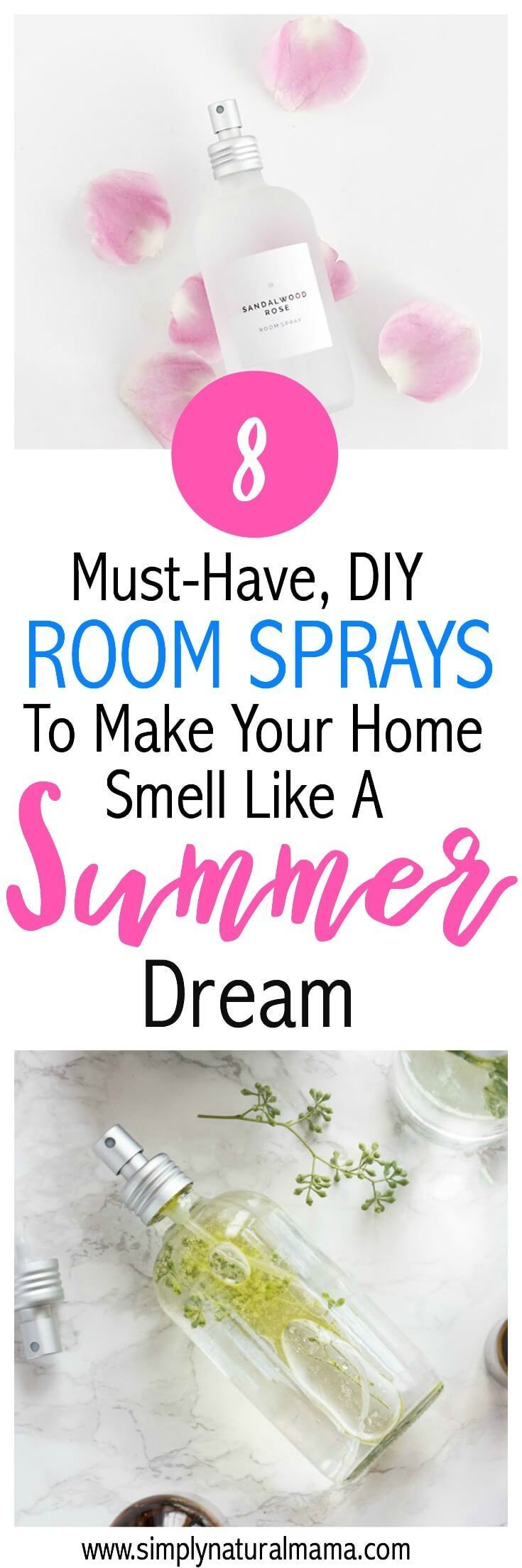 Wow! This was an awesome list of room sprays! I can't wait to make these this summer and have my house smell like a tropical getaway! via @simplynaturalma