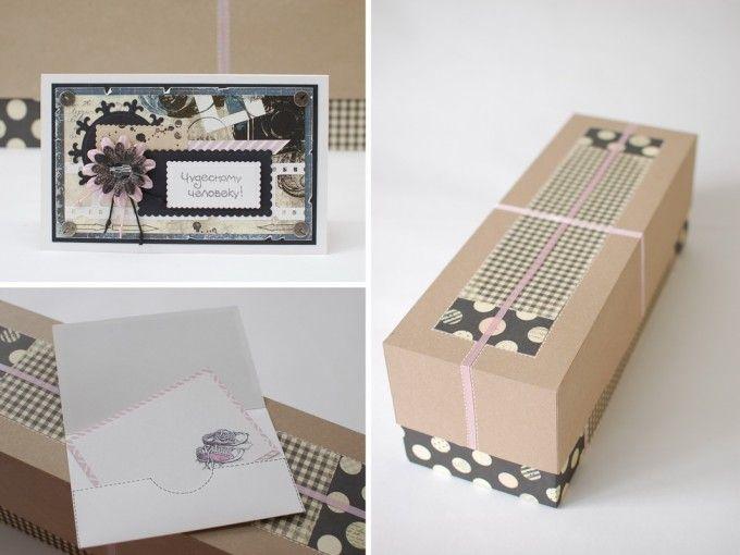подарочная дизайнерская коробка для интерьерной куклы