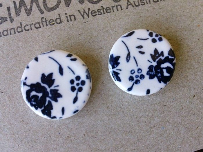 Vintage Floral Earrings | Simonette | madeit.com.au