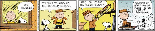 Peanuts Comic Strip, November 28, 2016 on GoComics.com