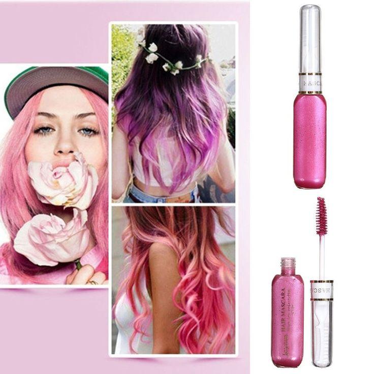 mascara temporaire coloration 10 couleur coiffure cheveux teinture non toxique - Coloration Temporaire Cheveux