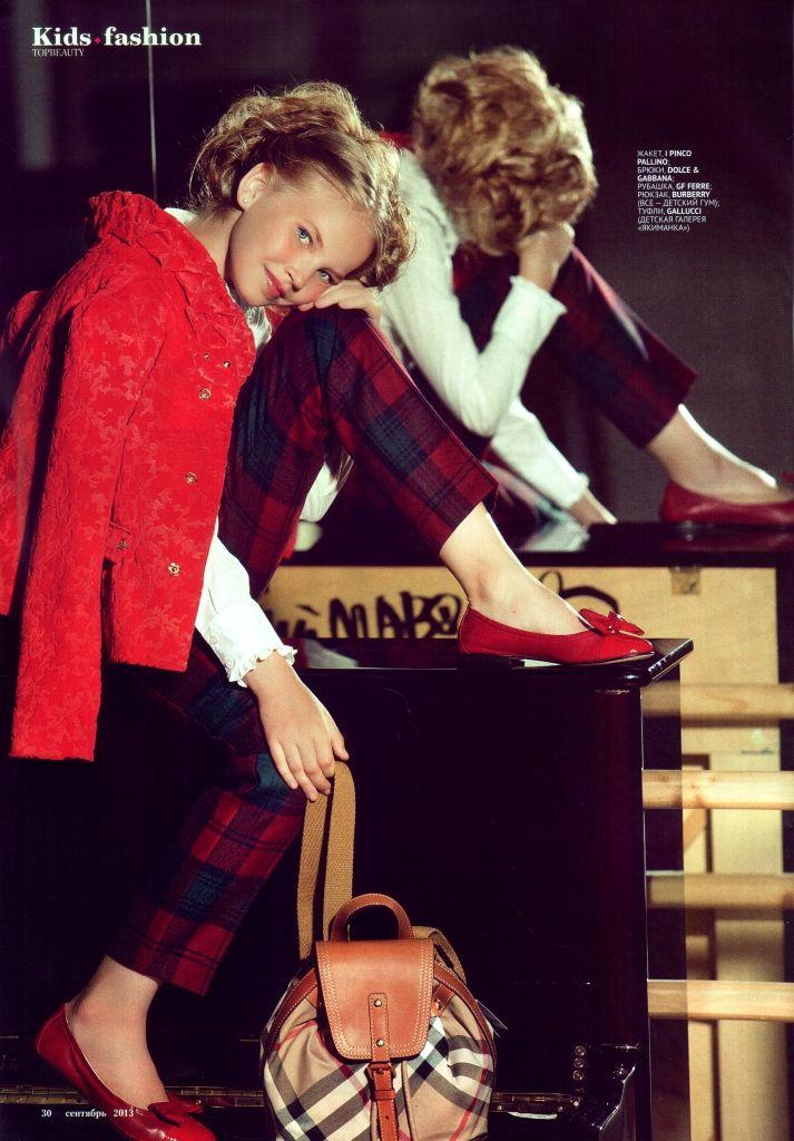 Zoya for TOPBEAUTY Kids September 2013  #editorial #magazine #kidsmodel