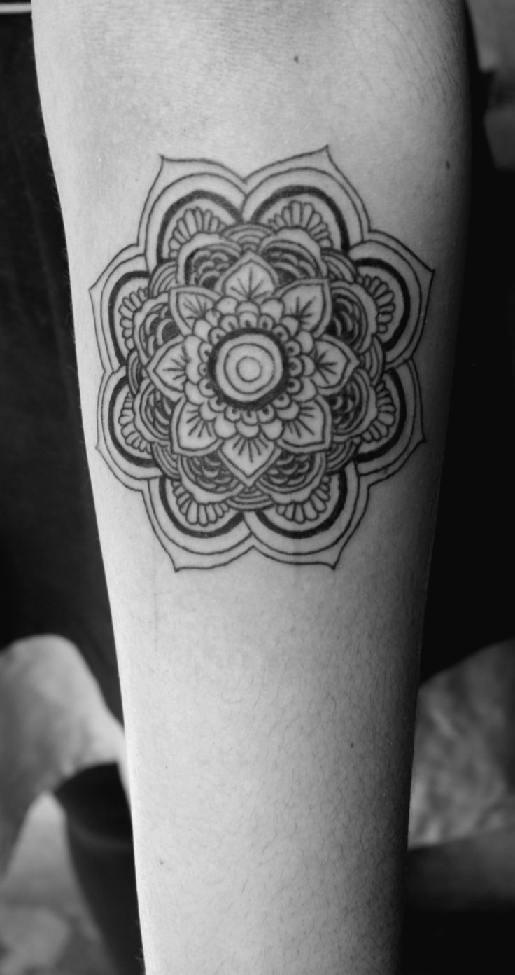 Mandala tattoo on the nape of my neck - Happiness Mandala Tattoo This Is Definitely Going On My Shoulder